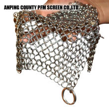 316l Stainless Steel 7*7 Inch Metal Chainmail Scrubber