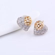 Xuping moda muticolor coração novo design zircão brinco (24804)