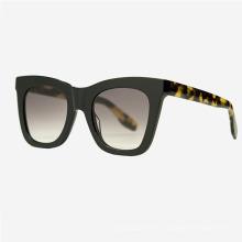 Дизайнерские женские солнцезащитные очки из ацетата кошачий глаз