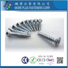 Hecho en Taiwán Personalizada de acero inoxidable Auto Tapping cabeza plana para muebles de casa Hardware tornillos para muebles