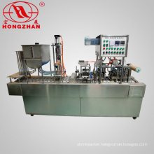 Automatic Foil Lid Water Cup Filling and Sealing Machine