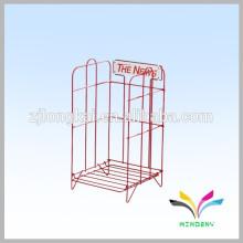 Black powder-coated smartable counter metal wire frame shelf