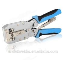 Outil de sertissage d'outil de sertissage d'outil de sertissage de câble de réseau de Cat6 RJ45 pour le câble plat et rond