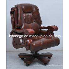 Chaise de bureau pivotante pivotante en bois en bois Foh-1313