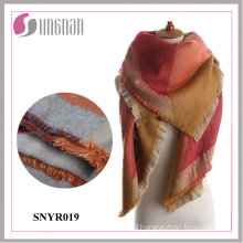 High Quality Winter Intellectual Geometry Imitate Cashmere Shawl Scarf