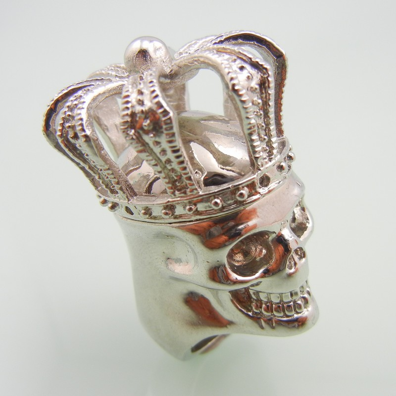 Stainless Steel Crown Skull Ring