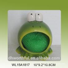 Керамический держатель губки в форме симпатичной лягушки