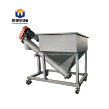 Transportador de parafuso flexível de descarga a granel