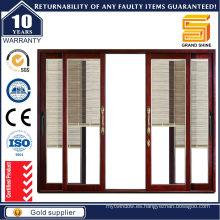 Puertas correderas de aluminio de doble acristalamiento de la serie 7150 con persiana móvil