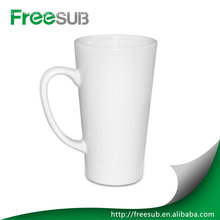 12OZ conical white mug sublimation printing mugs