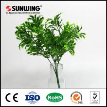fábrica de China al por mayor barato plantas de seda artificial verde para colgar la pared