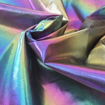Rainbow Iridescent Chunky Glitter Faux Leather για τσάντα