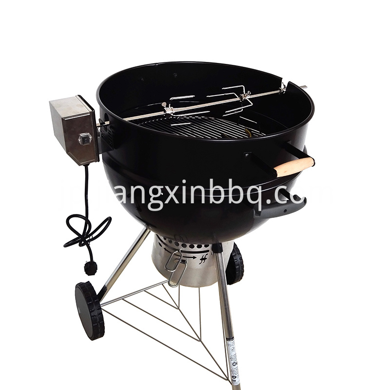 Premium Charcoal Kettle Rotisserie Spit Ring