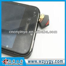 2D hat shape vinyl dust plug for cellphone