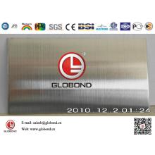 Feuille d'acier inoxydable brossé Globond 041