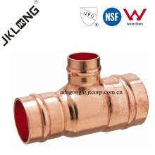 J9502 Racor de cobre T de reducción para plomería Soldadura