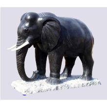 Artesanato de metal animal preto bronze estátuas de elefante indiano