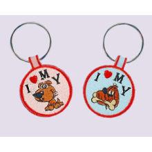 Embroidered Dog Key Chain, Luminous