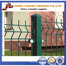 2015 Heißer Verkauf bescheinigter PVC beschichteter Curvy geschweißter Stahldraht-Ineinander greifen-Zaun
