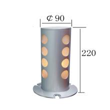 Lámpara de pie de aluminio de piso de plata de estilo nuevo (KM-F632)