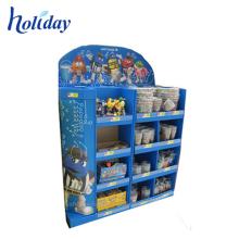 Prateleira de exposição relativa à promoção do cartão varejo da prateleira de exposição da pálete do cartão do POP para brinquedos do bebê