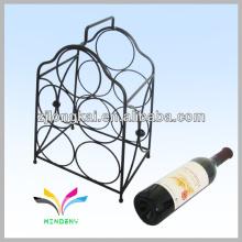 Smartable negro hecho en China contra metal alambre novedad vino rack