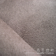 Tecido de camurça 100% poliéster dobra com apoio de malha