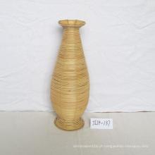 Vaso de flor redondo do Rattan de Natue