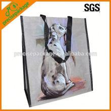 Bolso no tejido laminado respetuoso del medio ambiente con la imagen del perro