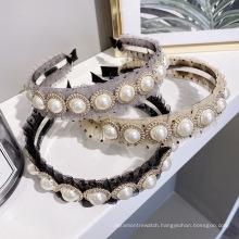 Wholesale Designer Hair Accessories Fashion Head Band Luxury Hair band Big Pearl Headbands for women