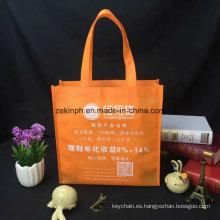 La bolsa de asas ambiental plegable colorida con el logotipo de impresión diseñado para el regalo del negocio