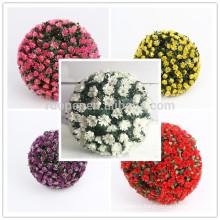 cheap plastic hanging rose flower ball for home dec