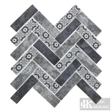 Стеклянная мозаика для струйной печати Mist Blue в метро