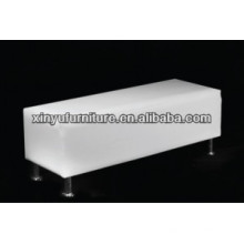 Eventing white leather ottoman for living room XW1024