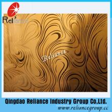 4mm / 5mm / 6mm Silver / Golden Decorative Glass / Restrunt Décoration Verre / Verre décoratif acide / gravé à l'acide