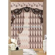 Fancy valance design exportação cortina excedente