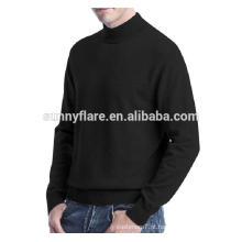 Camisola de cashmere ajustada de homens de malha