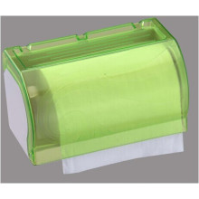 Hotel Publicl Toilet Green Translucent Round Plastic Wall Mounted Kitchen Tissue Paper Towel Holder