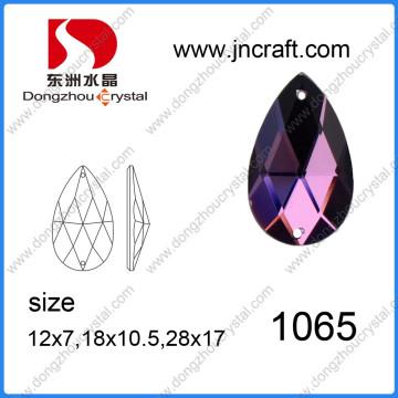 China Venta al por mayor de alta refracción de plomo libre de la máquina de corte de vidrio de espalda plana de coser de piedra para accesorios de prendas de vestir
