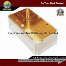 Messinggehäuse CNC-Fräsbearbeitung mit Nickel überzogen