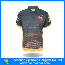 Fashion Manufacturer Custom Design Polyester Sublimated Polo Shirt