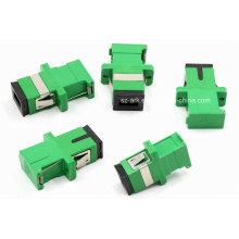 Adaptador óptico de fibra de obturador verde Sc / APC