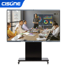 OEM CISONE 65 interactive touch screen 4k built in camera active board classroom android touch screen class online education