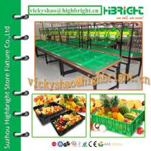 Supermarkt Gemüse und Obst Display Stand Racks
