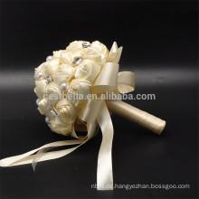 Romantische heiße verkaufende Hochzeitsfestperle künstlicher farbiger schöner Hochzeitsblumenstrauß