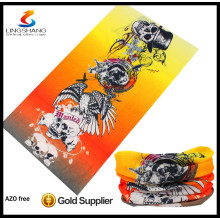 high tech polyester elastic multifunctional seamless tube scarf bandan custom neck warm