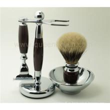 Kits de pincel de afeitar de cabello de alta calidad y alta gama Bager