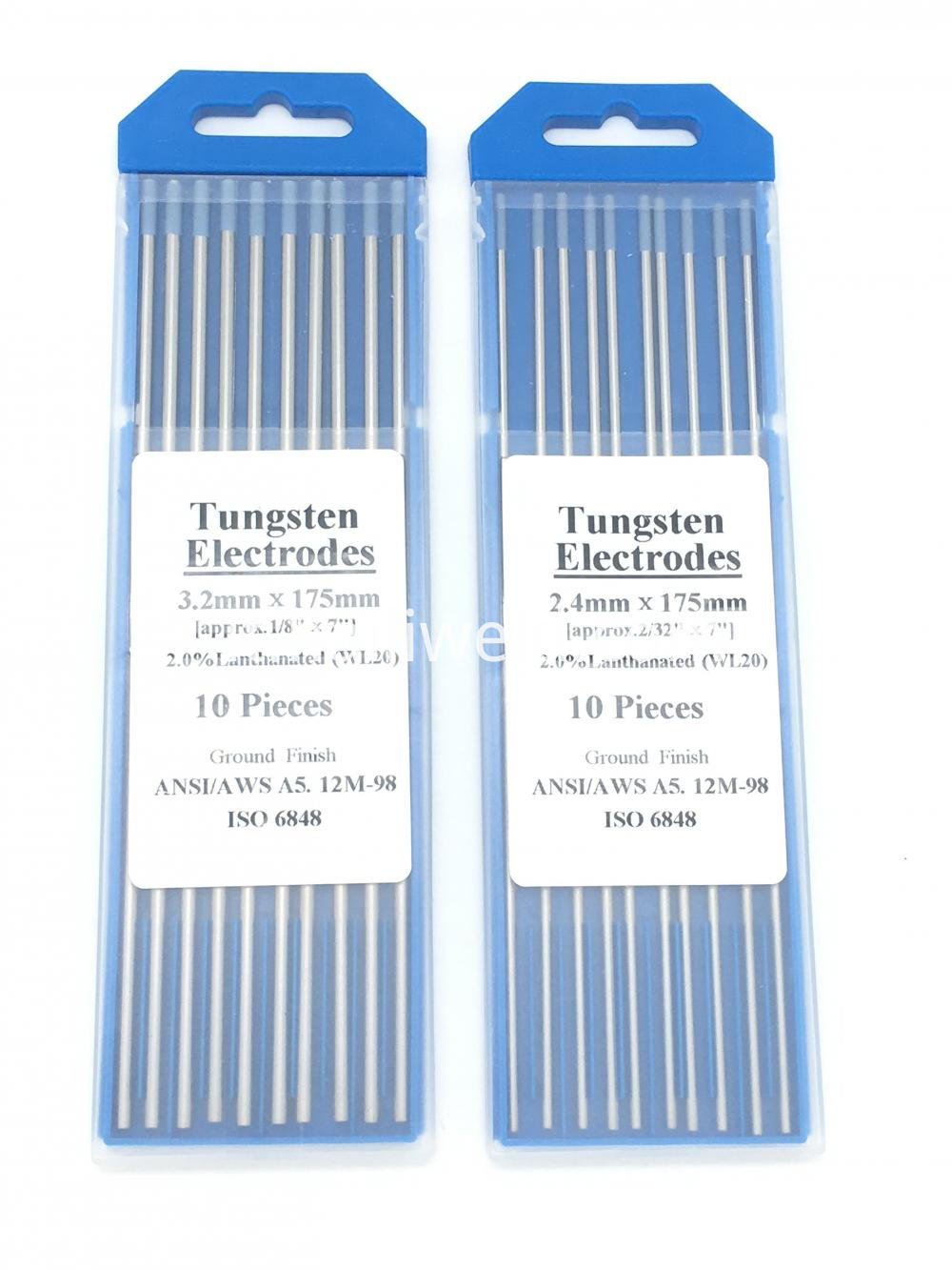 Tungsten Needle Blue Wl20 2 4 X 175mm 10 Pk Lanthanum Tungsten Electrode