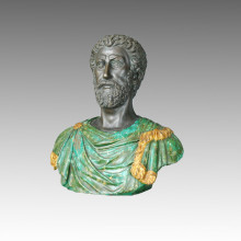 Büsten Statue Bunte Philosophen Bronze Skulptur TPE-111
