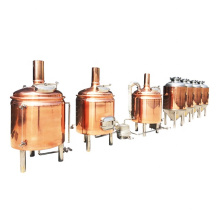 5 bbl restaurant beer brewing equipment red copper mash tun brewery system